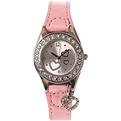 Claire's Girls and Womens Heart Charm Wrist Watch