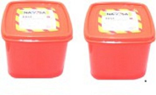 Nayasa Easy Funk 16 Plastic Container Set, 700 ML, (Set of 2)  available at amazon for Rs.210