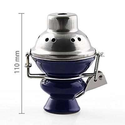 ShiSha Tabakkopf für Wasserpfeife mit Windschutz -und Kohlesieb - diverse Farbe von VERY100