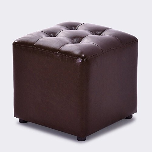 CWJ Stühle Hocker, Hocker Einfarbig Klein Schuhwechsel Mode Sofa Schuhe Sitzt Dressing Massivholz Adult Home Convenient Hocker,Braun 1 -