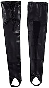Fancy Fashion Latex Cuissardes Bas en Noir Taille XL