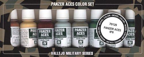Vallejo Model Color Panzer Aces colori acrilici, Set di 6, colori assortiti (confezione da 8)
