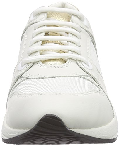 Geox D Omaya A, Baskets Basses Femme Blanc (C1209)