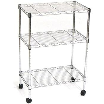 Cheap carrello da cucina in acciaio cromato mensole in for Piani di costruzione di storage rv gratuiti