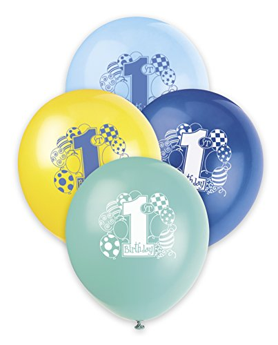 Unique Party Supplies 30,5 cm Latex-Luftballons blau Luftballons zum 1. Geburtstag, 8 Stück