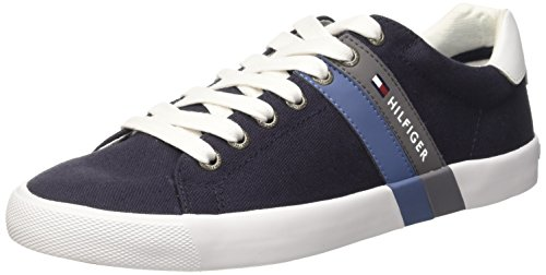 Tommy Hilfiger SM V2285OLLEY 5C2 Scarpe Low-Top, Uomo, Blu (Midnight 403), 43