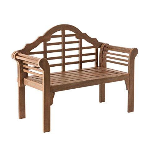 Gartenbank Marina - 2-Sitzer Holzbank - Klappbar - Eukalyptusholz - ca. B122 x T54 x H95 cm