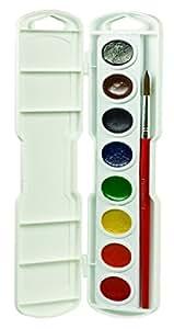 Dixon Prang Watercolor Paint Cakes 8/Pkg-Assorted Colors,  Other,  Multicoloured