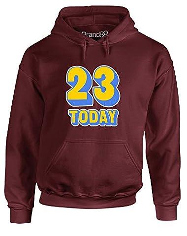 23rd Birthday, Adult's Hoodie Imprimé - Bordeaux L = 106-111 cm