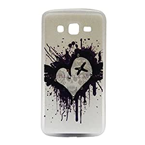 Slim Fit Heart Picture Crystal Hard Back Case Cover For Samsung Grand 2 G 7106