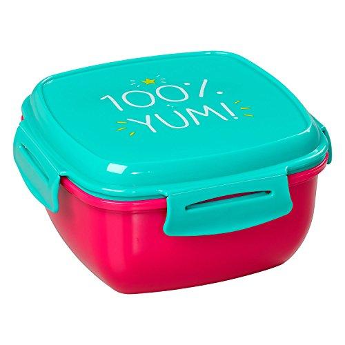 Happy Jackson 100% Yum Salat Lunchbox, grün & Rot