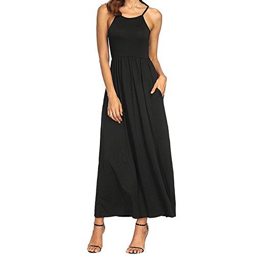 Junjie Damen Sommerkleid Plus Size Bohemia Casual Solid V-Ausschnitt Kurzarm Baumwolle Leinenkleid Elegant Vintage Strandkleid A-Linie Kleid Frauen Minikleid Sommer Party Ballkleid …