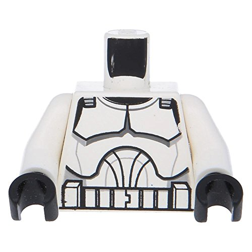 10 x LEGO® Oberkörper SW Rüstung Clone Trooper Aufdruck (Clone Wars) / Weiß