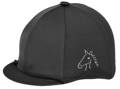 Copri-berretto da equitazione, in lycra, nero (nero), Taglia unica nero - nero