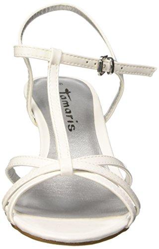 Tamaris 28329, Salomés femme Blanc - Weiß (WHITE PATENT 123)