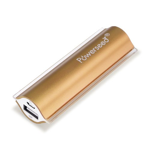 Powerseed Angel Eye 2400mAh Oro - Batteria esterna portatile, USB power bank