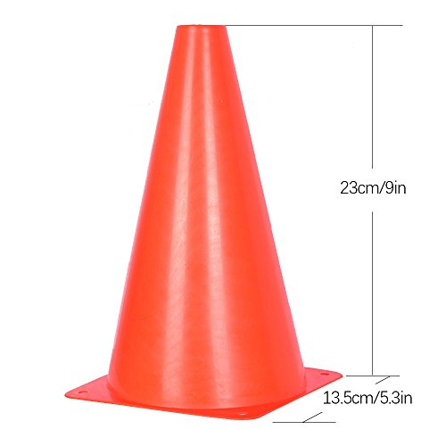 10 Pack of Traffic Cones for Kids     9 inch Orange Field Marker Cones for Outdoor Activity   Festive Events