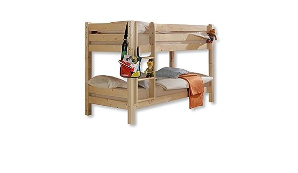 Etagenbett Knuth Kiefer Massiv 90x200 Weiß Lackiert Neu : Roller etagenbett knuth massivholz mit leiter braun: amazon.de