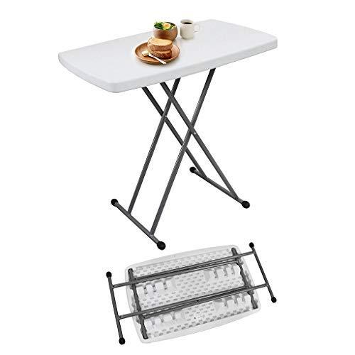 Todeco - Verstellbarer Klapptisch, Kompakter und klappbarer Tisch - Material: Stahl - Oberfläche oben: 76 x 50 cm - 76 x 50 x 51/63/74 cm, Weiß