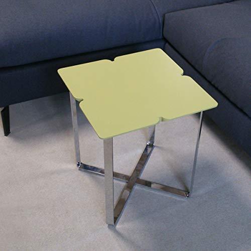 Möbel Akut Couchtisch ROLF Benz Freistil 195 Kleeblatt grau olivegrün 42x42 cm