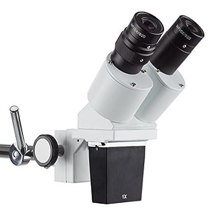 AmScope 10X-20X Widefield Binocular Inspection Stereo Microscope on Boom Arm Stand