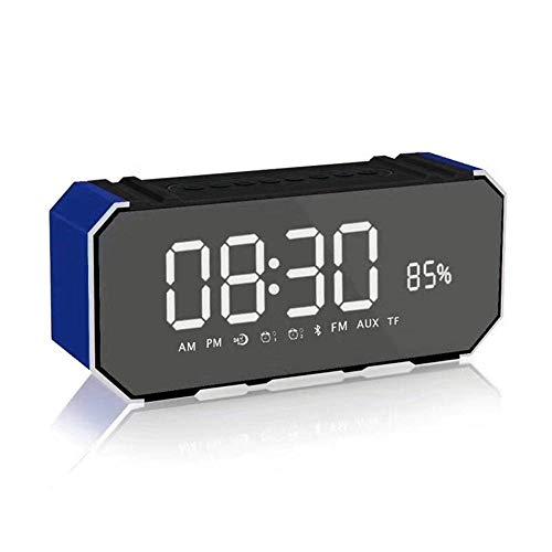 SKYyao Altavoz Bluetooth Bafle de Aluminio Bluetooth Altavoz portátil Reloj Metal Radio Audio Metal 190 * 50 * 85 m m