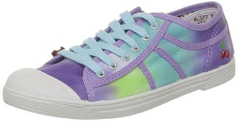 Le Temps des Cerises Basic 02, Baskets mode femme - Violet (Tie&Dye Purple), 40 EU