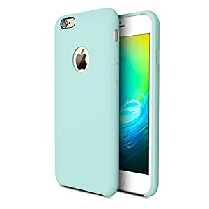 iPhone 6s plus Case, TORRAS [Love Series] Liquid Silicone Rubber iPhone 6 6S Plus Soft Microfiber Cushion Shockproof Case (5.5 inches)-Mint