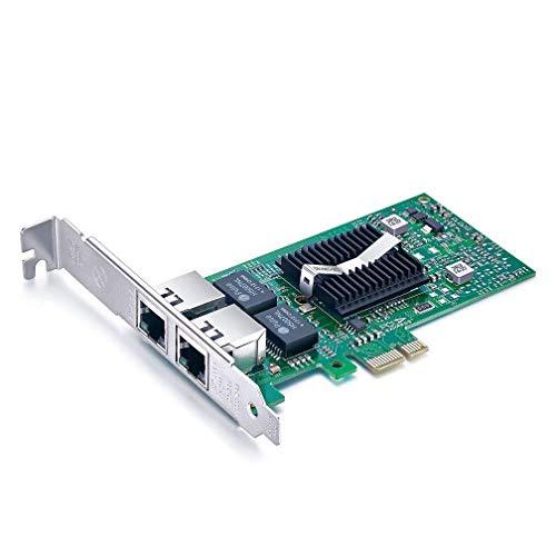 dual lan 10Gtek® für Intel E1G42ET, Intel 82576 Controller 1GbE Ethernet Netzwerkadapter (NIC), PCI Express 2.0 X1 Karte, Dual RJ45 Kupfer Ports