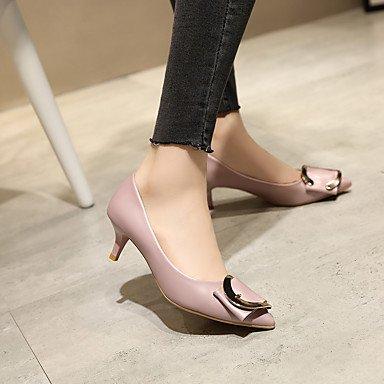 Moda Donna Sandali Sexy donna tacchi Primavera / Estate / Autunno / Inverno Comfort / Punta / punta chiusa Casual Stiletto Heel fibbia gray