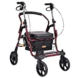 Shopping Trolley- Alter Mann-Einkaufswagen, älterer Walker vierrädrige Laufkatze mit Einem Leichten faltenden Rollstuhl