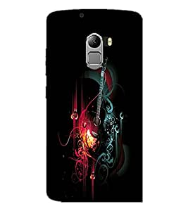 PrintDhaba Music D-2412 Back Case Cover for LENOVO K4 NOTE A7010a48 (Multi-Coloured)
