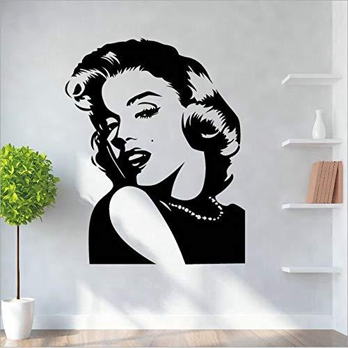 Adesivi personaggi classici salone di bellezza decorazione murale bar poster nero soggiorno murales art