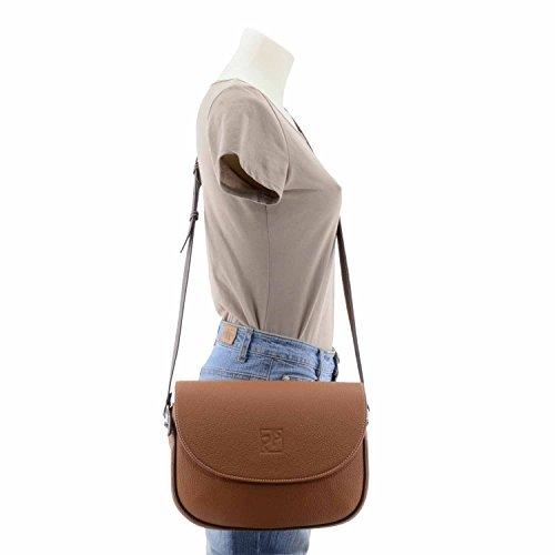 sac à bandoulière en cuir CUERO/MARRON