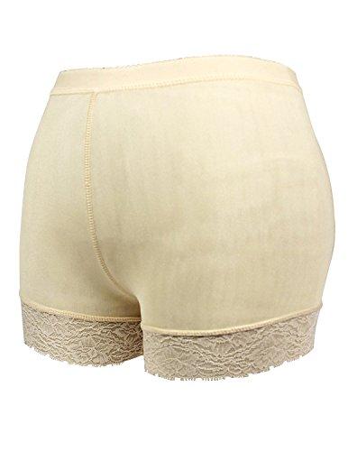 Sitengle Damen Butt Lifter Miederpants Spitzenbund Push up Taillenhosen Taillenformer Shapewear Sporthose Hüfte Hosen marille