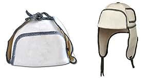 Chapeau de sauna Chapeau de feutre Chapeau bonnet Chapeau sauna Pour Sauna 5177-1520