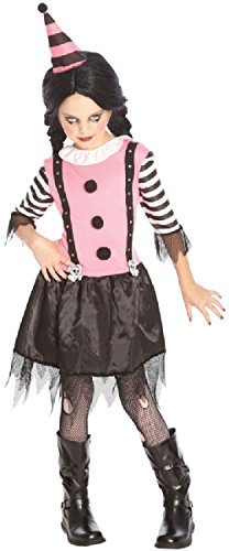 OIder & Teenage Mädchen Rosa Killer Erschreckend Zombie Clown Halloween Circus Kostüm Kleid Outfit 7-14 jahre - Rosa, Rosa, 12-14 (Halloween Outfit Clown)