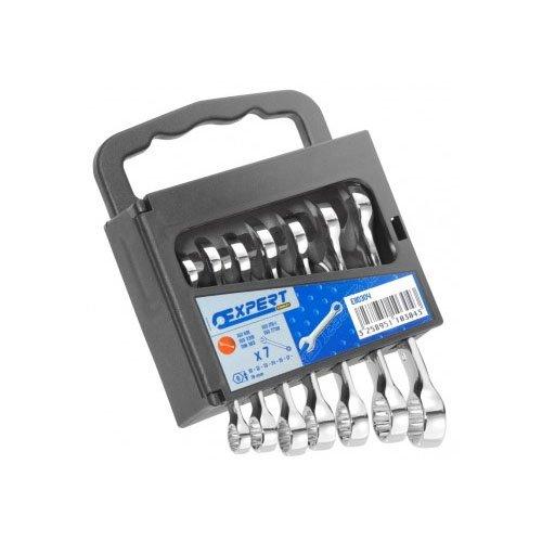 EXPERT E110304 Satz Kurze Gabel-Ringschlüssel, Metrisch