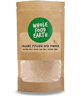 Wholefood Earth: Organic Psyllium Husk Powder 500g | GMO Free | Vegan | Raw | Additive-Free | Natural Fibre