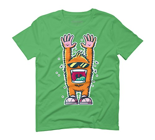 Graffiti Monsters Men's Graphic T-Shirt - Design By Humans Green