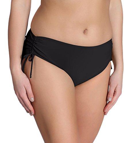 Merry Style Damen Bikini Unterteil M30 (Schwarz, XL) (Band Mikrofaser-shorts)