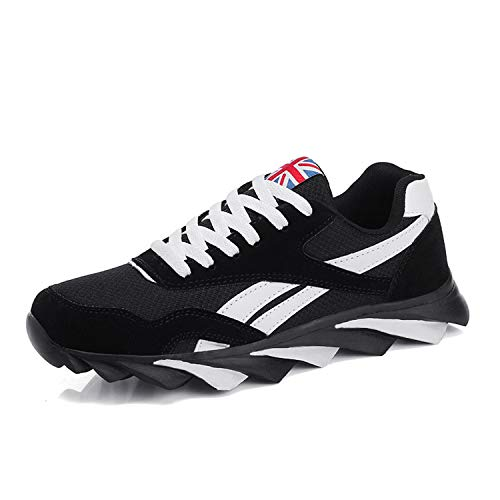 Hot Spring Summer Fashion Men Casual Shoes Breathable Comfortable Male Sneakers for Adult 3 Colors Plus Size 39-47 7100black 8.5