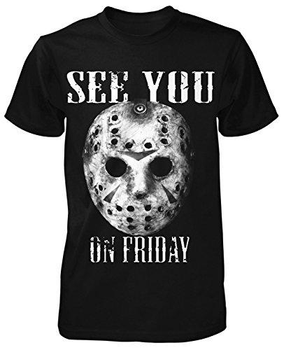 See You on Friday T-Shirt Jason Horror Vintage Fun Freddy Killer Halloween