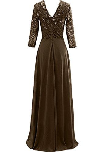 Sunvary Elegant Neu Spitze Brautmutterkleid Langarm Abendkleider Ballkleider Bildfarbe