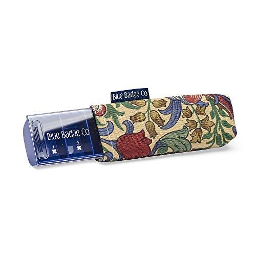 Preisvergleich Produktbild Blue Badge Co. William Morris den täglichen Pillendose mit stylische Golden Lily Tragetasche