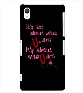 PrintDhaba Quote D-4901 Back Case Cover for SONY XPERIA Z2 (Multi-Coloured)