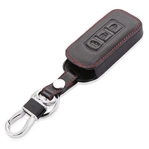 9MOON–Funda para las llaves del coche, para mando a distancia, estilo para Mitsubishi Lancer Outlander Asx Pajero, piel de alta calidad, diseño delicado y compacto, suave y perdurable