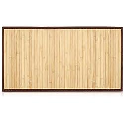 Navaris Alfombra bambú Antideslizante para el baño - Esterilla Rectangular de Madera Multiusos para Ducha Cocina Pasillo recibidor salón - 83x43CM