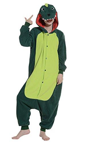 Drache Jumpsuit Tier Pyjamas Kostüm Fasching Onesie Damen Herren Karneval Cosplay Nachtwäsche