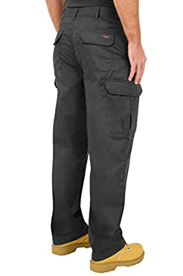 Endurance Mens Cargo Combat Work Trouser with Knee Pad Pockets and Reinforced Seams - Available in Black, Navy & Grey